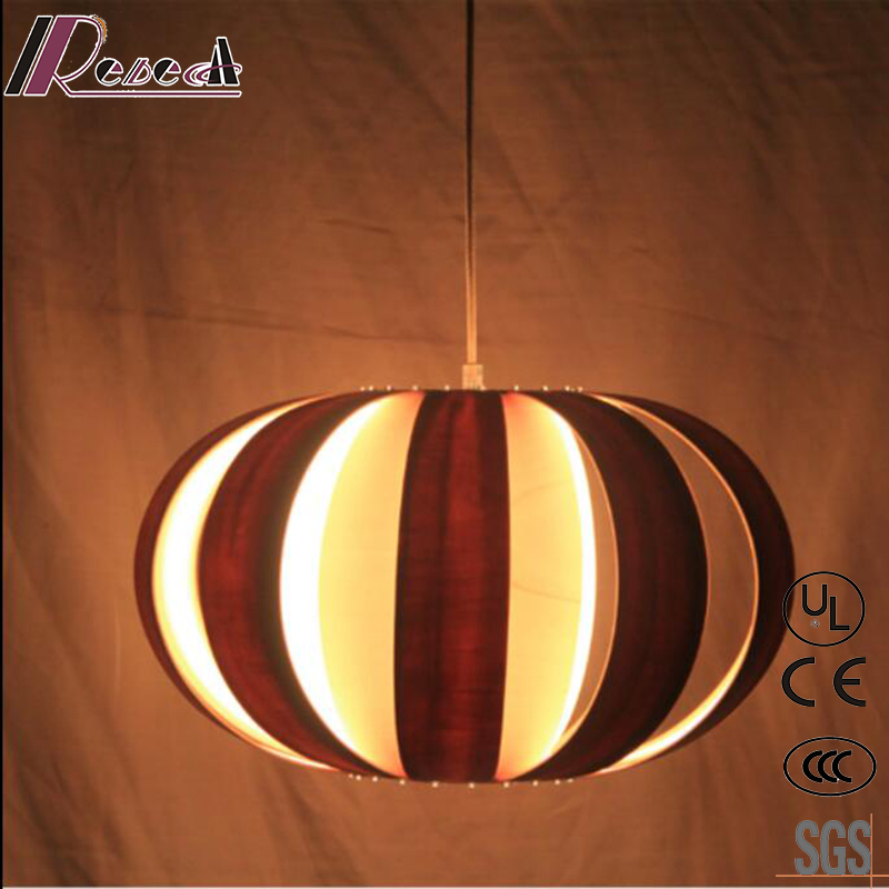 New Design Round Wood Hollow out Ceiling Light with Dining Room