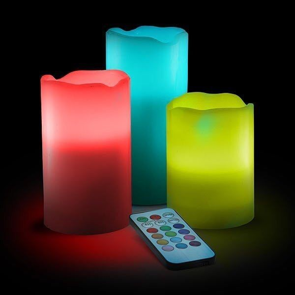 colorful led candle