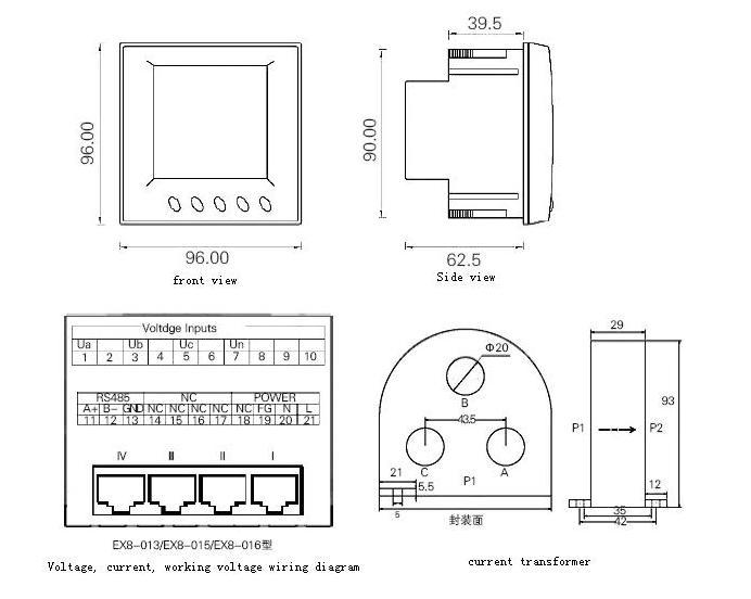 Ex8-016 Four Way Three Phase Power Meter