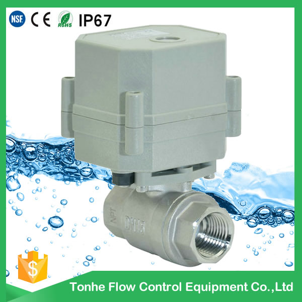 Dn15 230V Valve Stainless Steel Ss304 Electric Motorized Ball Valves