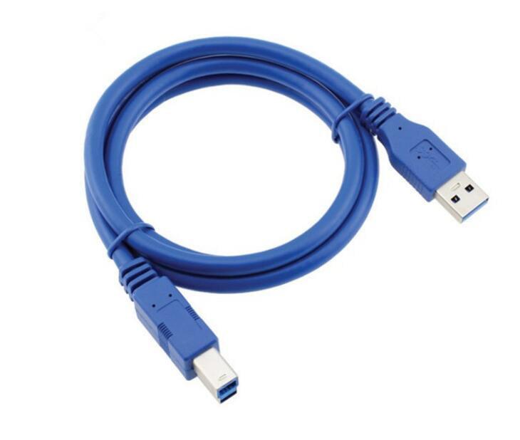 Cabo de dados de extensão de conector de impressora USB 3.0 Am a Bm