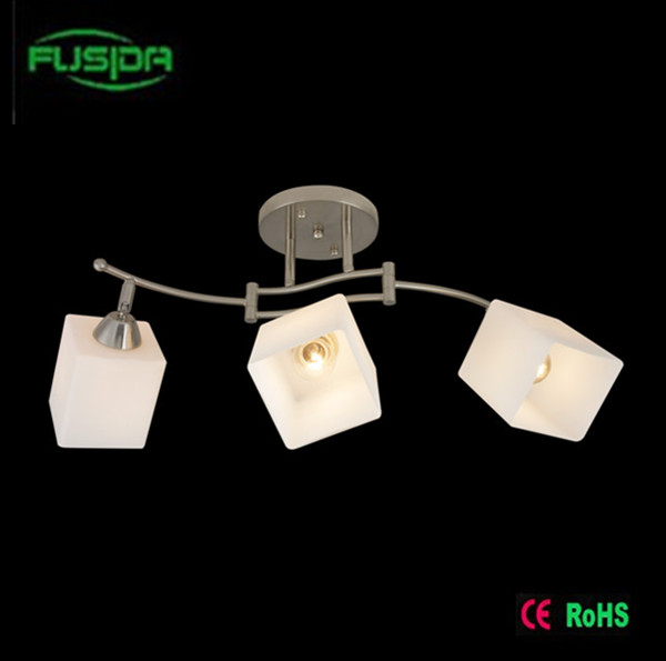 Modern Glass Square Chandelier Lighting Glass Lighting