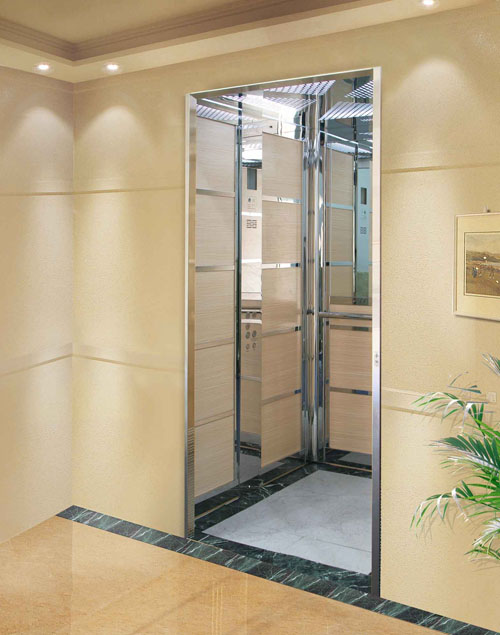 Ce Good Decoration and Safe Passenger Lift Without Machine Room