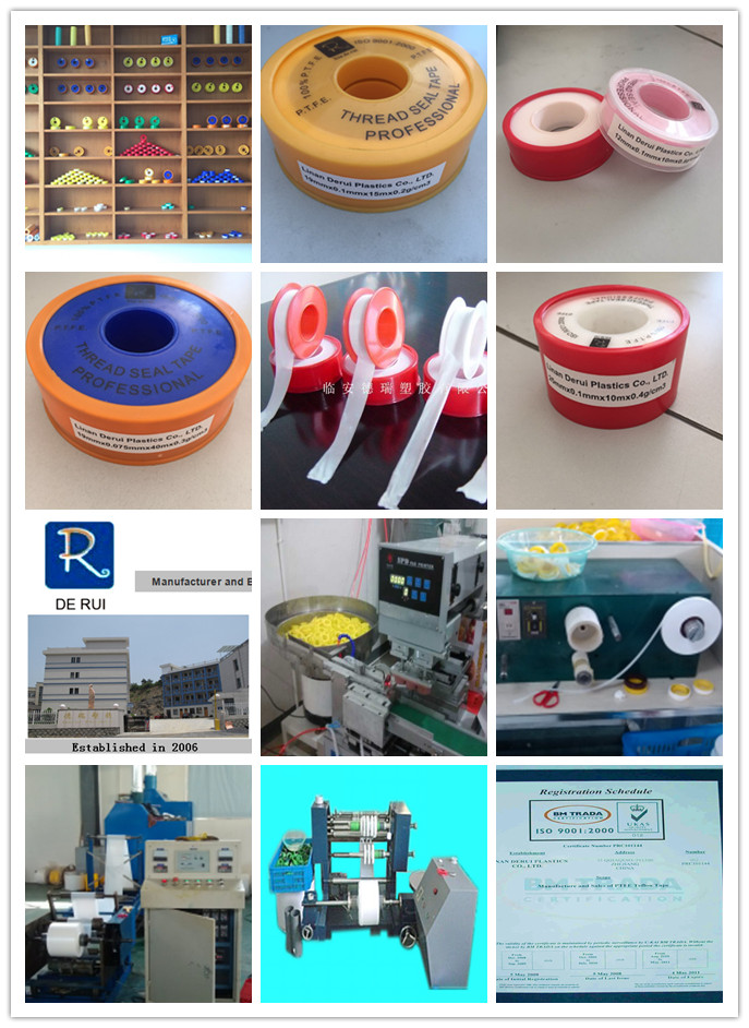 Linan Factory Wholesale Good Quality Jumbo Roll PTFE Piping Thread Seal Tape Teflon Tape for India