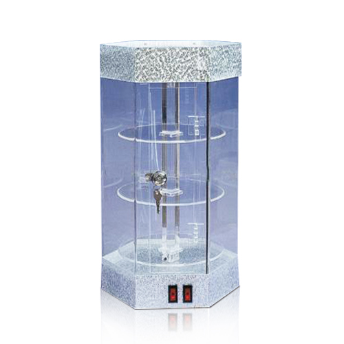Hexagonal Style Acrylic LED Display Stands, POS Display Box with LED