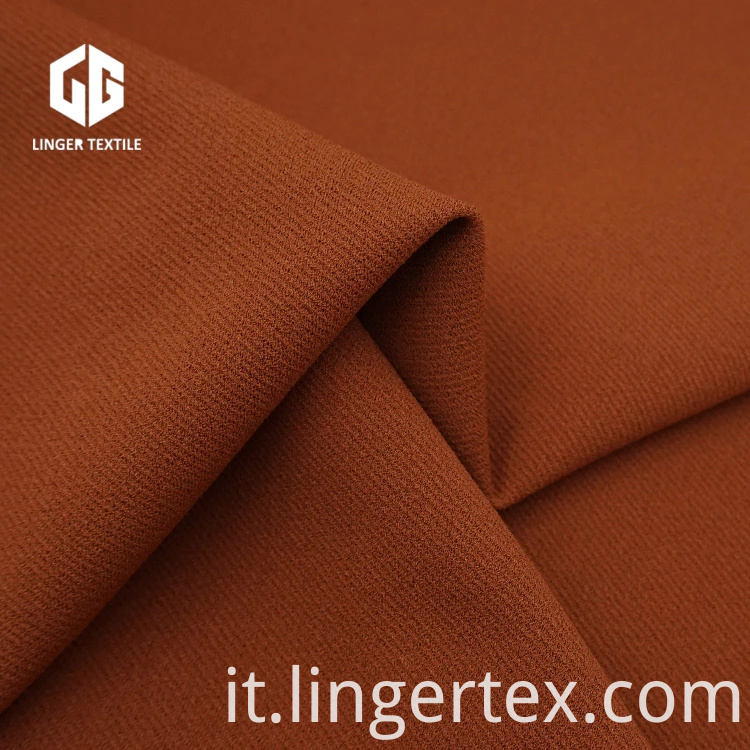 Shaoxing Popular Twill Crepe Fabric 95% T 5% Sp per indumento