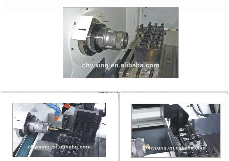China Shangha Diameter 42mm Mazak Swiss Type Metal CNC Lathe with Milling Machine Combo