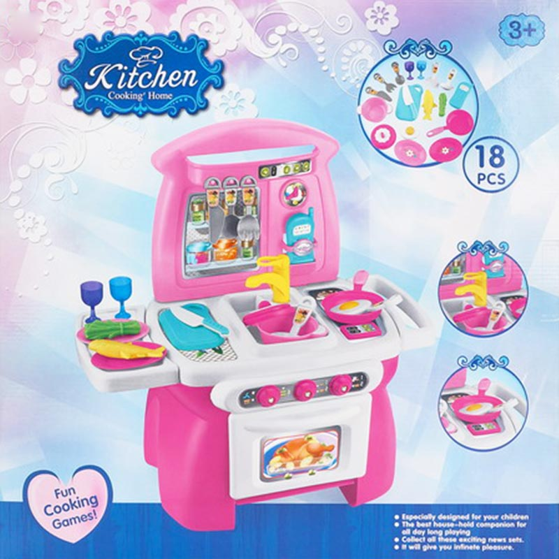 Educational Girl Toy Kitchen Cooking Game Toy Set