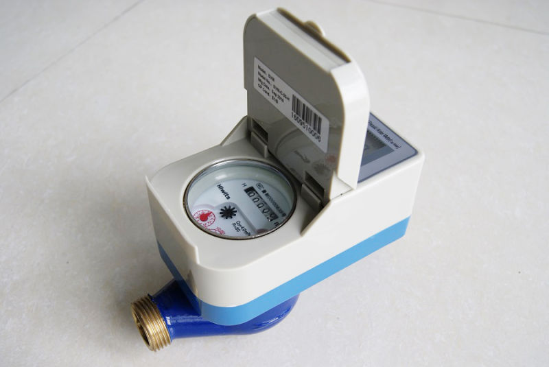 Horizontal Brass Cast IC Card Prepaid Water Meter for Cold Water