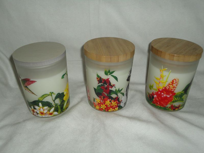 Screen Printing Glass Jar Luxury Candle