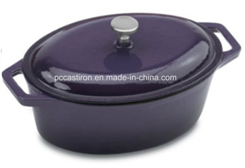 Enamel Oval Cast Iron Casserole Cookware Manufacturer From China