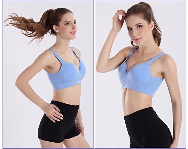 2016 New Design Women Gym Push up Comfort 3D Yoga Bra