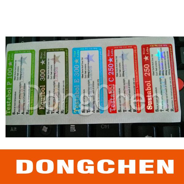 Unique Design Top Quality Printing 10ml Vial Label