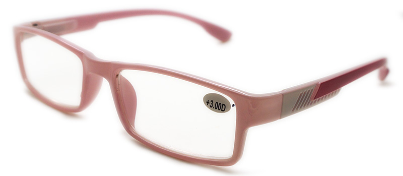 Unisex Plastic Reading Glasses with Spring Temple (WRP508323)