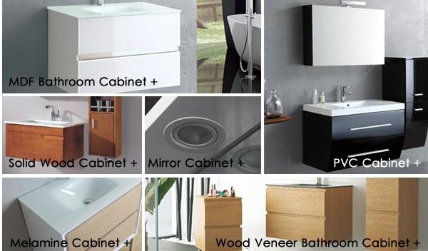 Floor Standing Solid Wood Bathroom Furniture with Sink