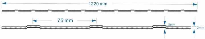 2mm Multi-Wall Waved Roll Sheet