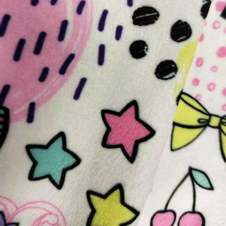 100% Polyester Mink Print Fleece Baby Blanket Fabric