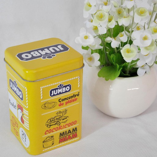 Customized Metal Square Tea Packaging Tin Box with Food Grade Varnish