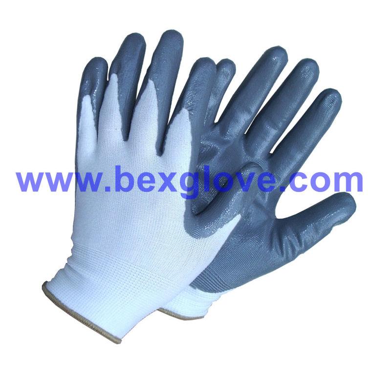 13 Gauge Polyester Nitrile Working Glove