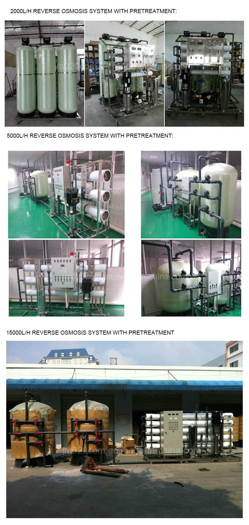 1000L/Hr Industrial Reverse Osmosis Water Treatment Plant with Ultraviolet Sterilization
