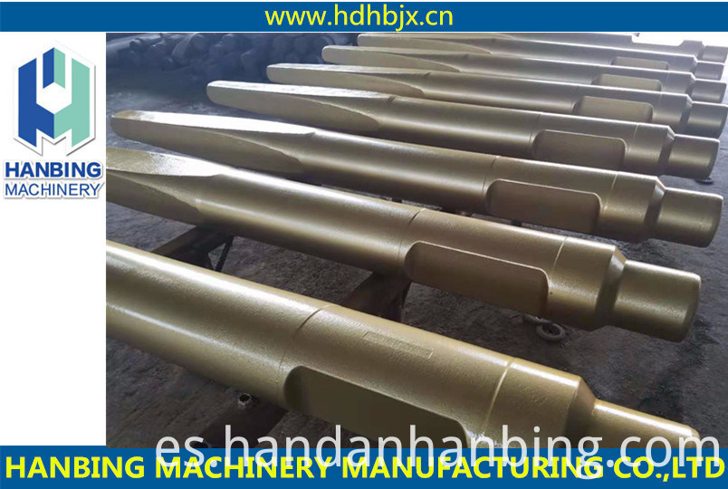 Fabricante de China de alta calidad Martillo hidráulico Rock Breaker Cinceles romos