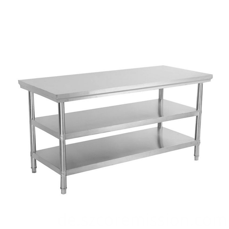 Commercial Kitchen 3 Layers Stainless Steel Work Table