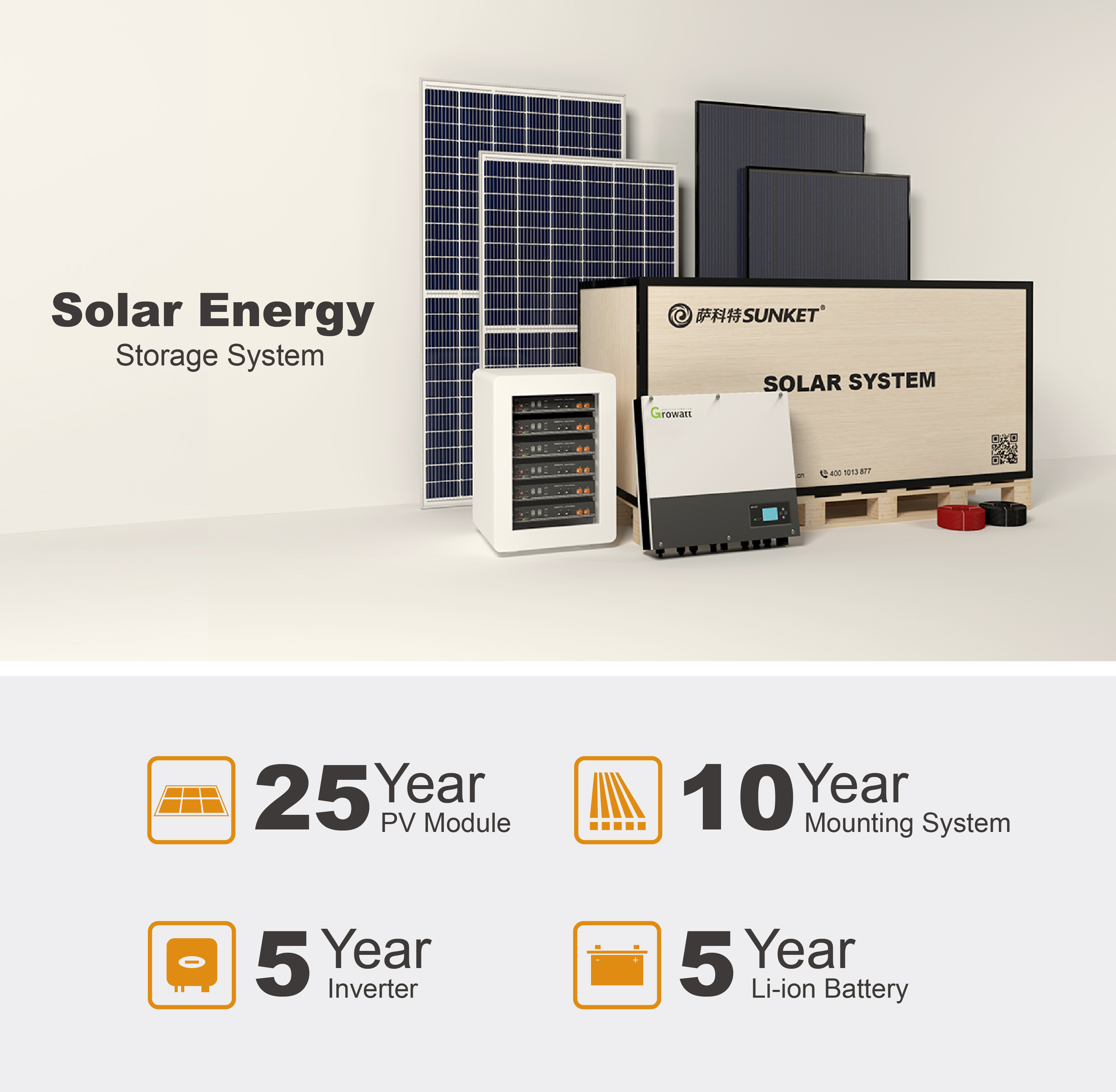 Home Use Storage Solar Power System