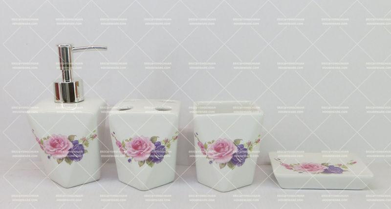 Flower Decorative Bathroom Set