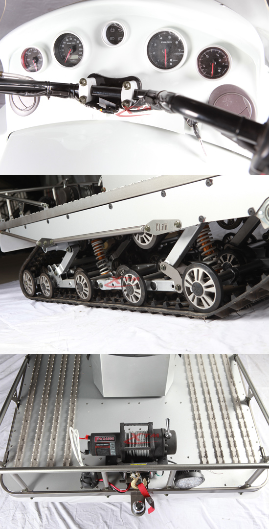 4 Cylinders 1500cc Motorized Snow Scooter
