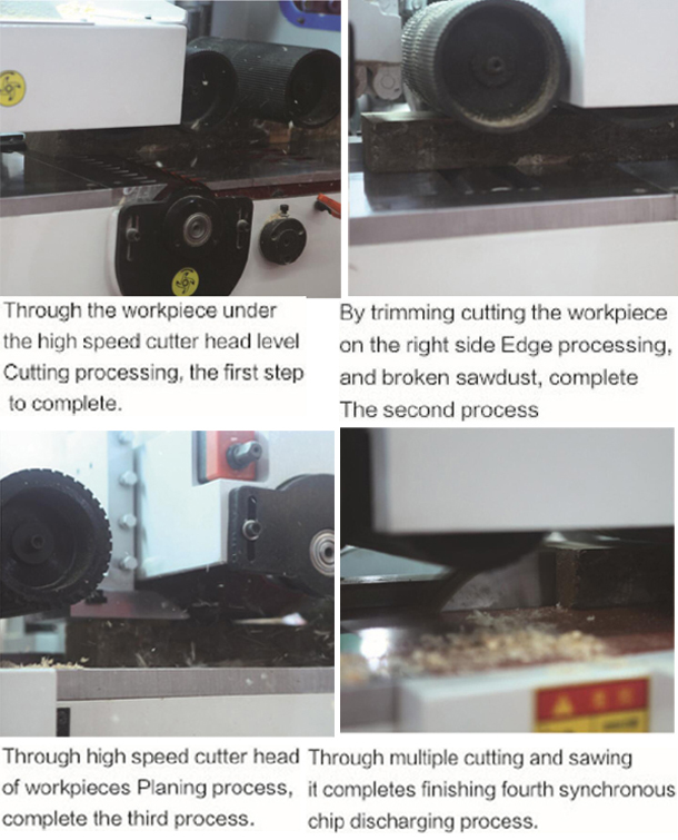 Multifunctional Wood Double Sided Planer Machine with Multiple Saws