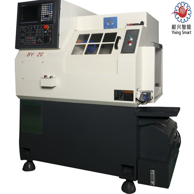 Yixing Machinery Spindle Pneumatic Clamping By20c 4-Axis High Speed Gang Tool CNC Lathe
