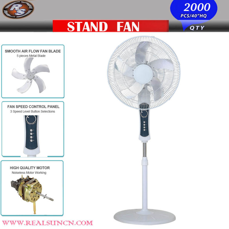 Electric Stand Fan with High Velocity Fan