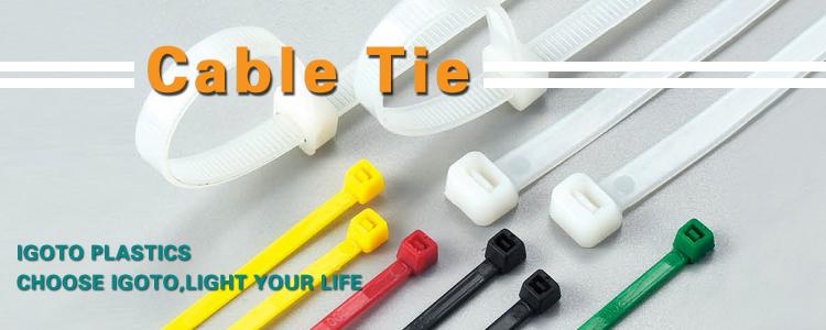 Plastic Cable Loop Ties Wire Self-Locking Black Cable Ties