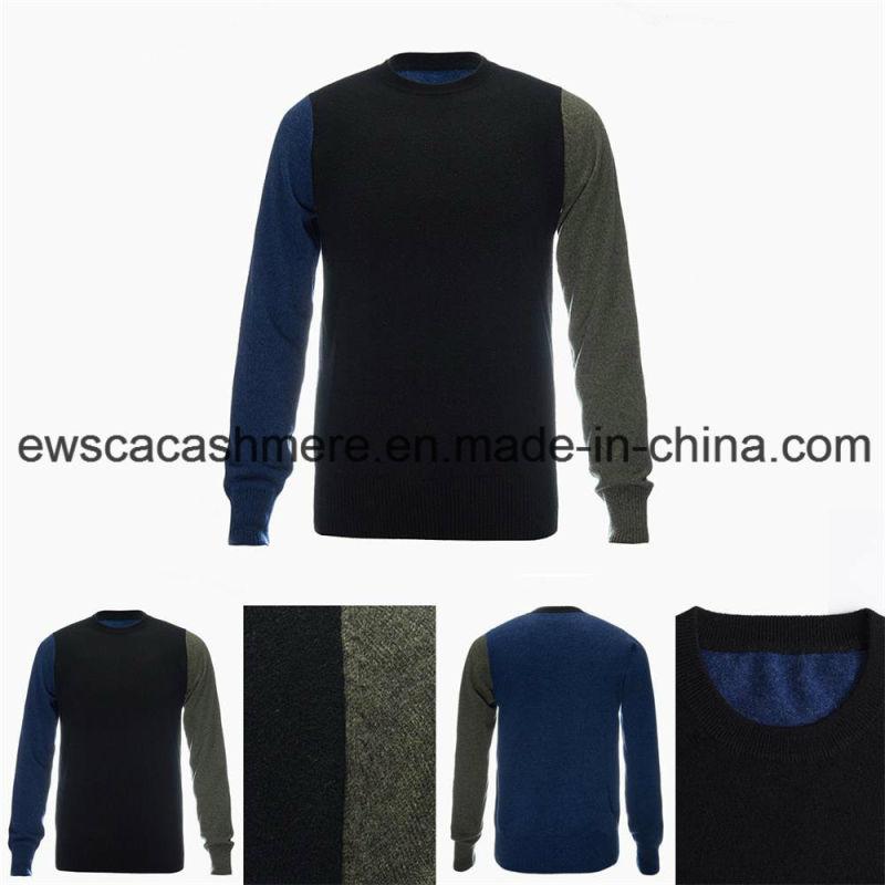 Men's Crew Neck Fashion Design Top Grade Pure Cashmere Sweater