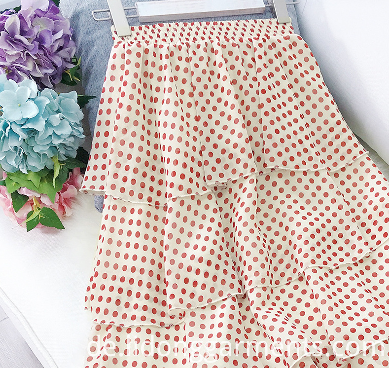 Little Point Chiffon Skirt