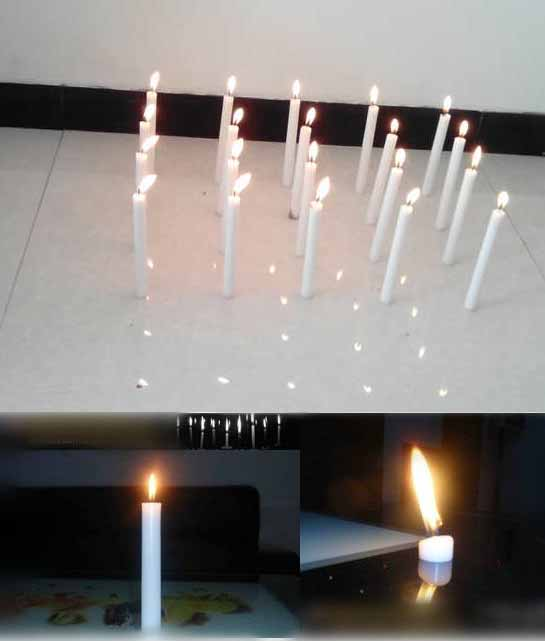 Unscented Paraffin Wax Pillar White Household Candles
