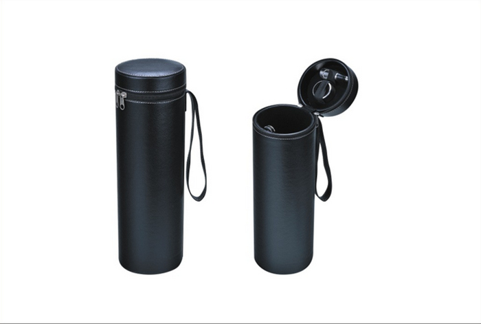 Portable Leather Wine Box for Travel