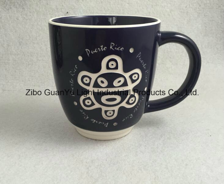 Sandblast Mug, Engraved Mug, Ceramic Mug with Engraved Logo