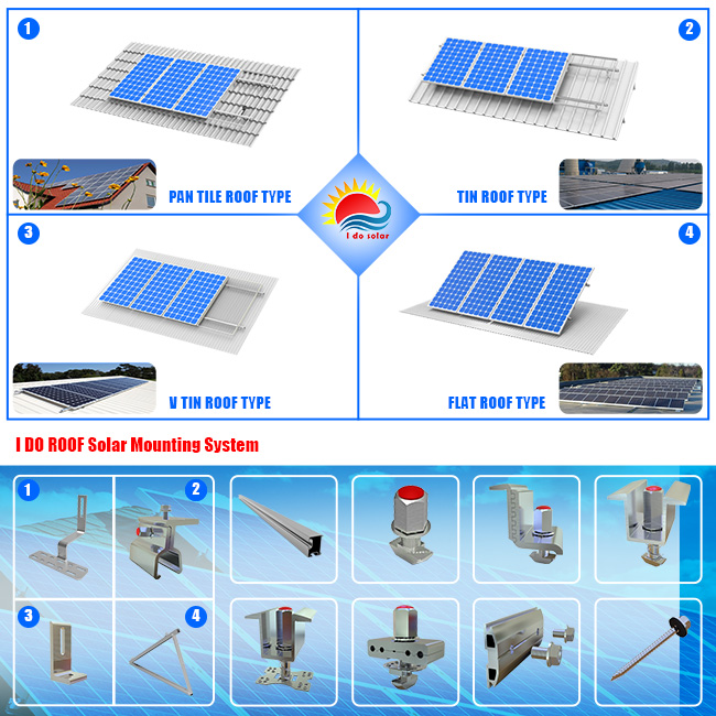 Ss304 Series Standard Pan Tile Bracket with Solar Mounting System (ID105-0001)