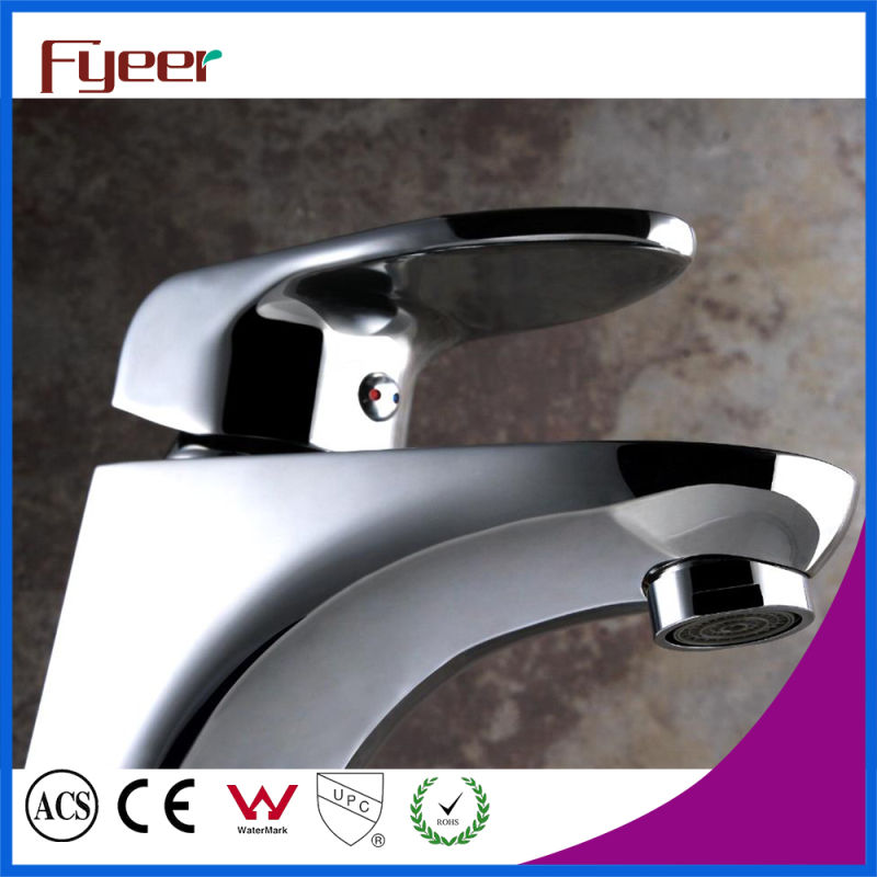 Fyeer Bathroom Contemporary Single Handle Chrome Plated Brass Hot&Cold Water Mixer Tap