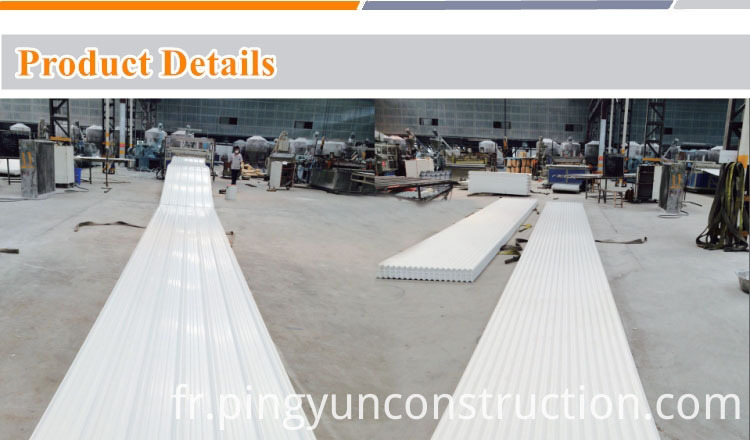 Production of PVC roof tile