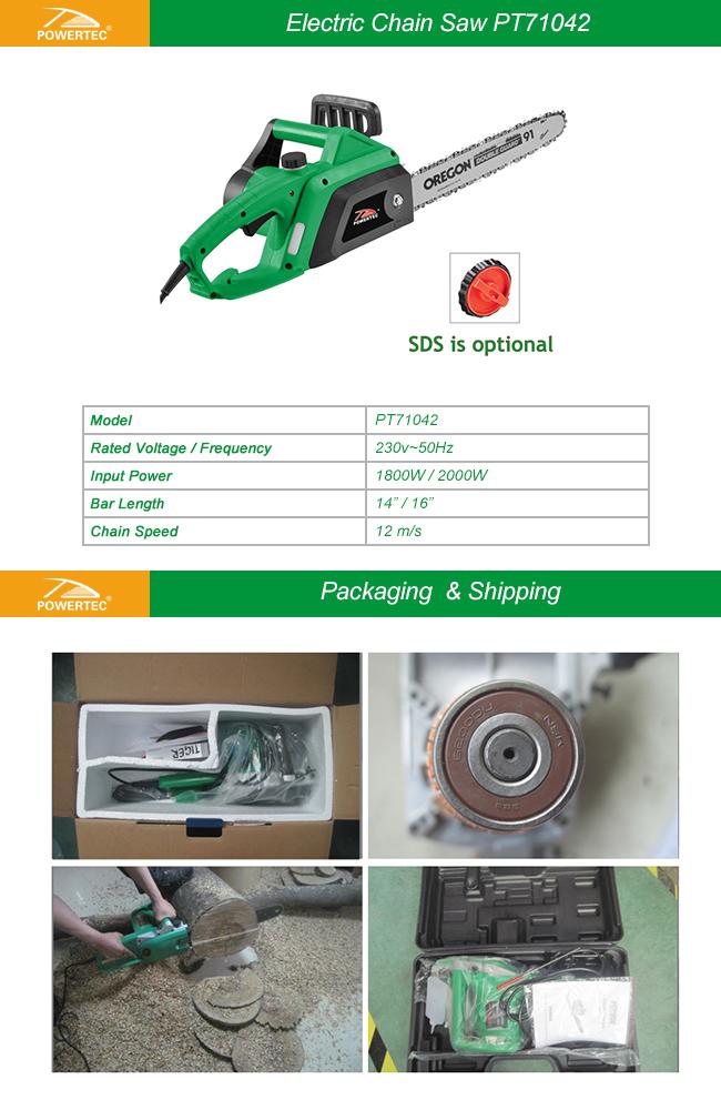 Powertec 1800W Electric Chain Saw