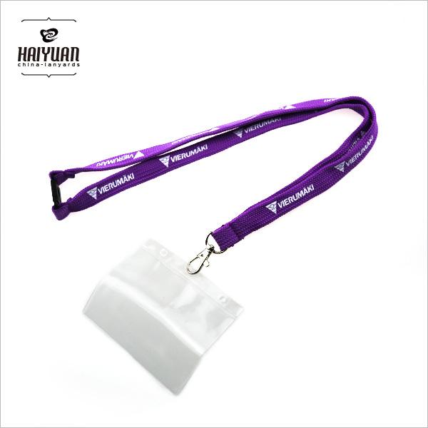 Tubular Printed Lanyard with PVC Card Holder