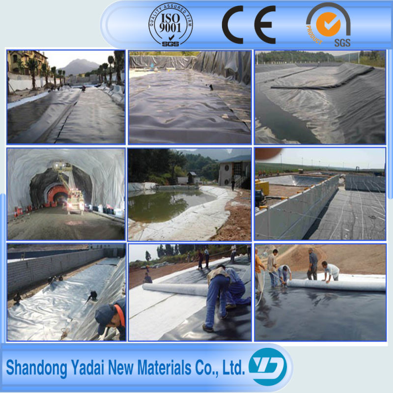 0.15mm-0.3mm Waterproofing Fish Farm Pond Liner HDPE Geomembrane