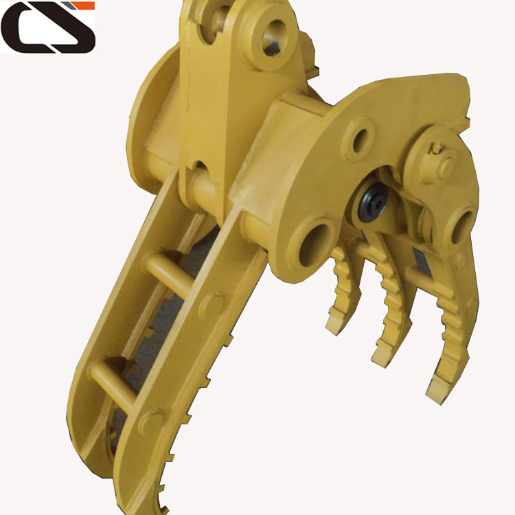 6ton 7ton Excavator Hydraulic Rotatable Small Log Grapple