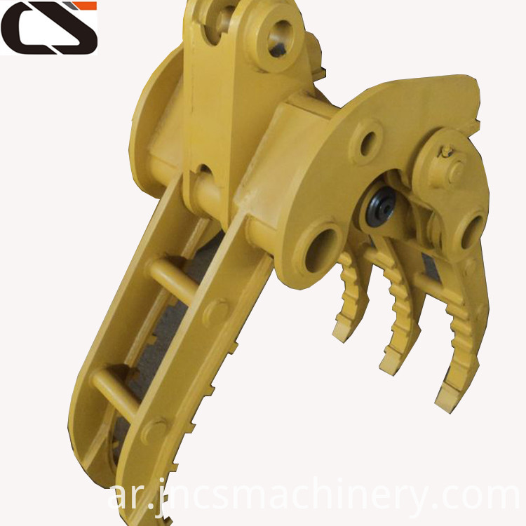 6ton 7ton Excavator Hydraulic Rotatable Small Log Grapple
