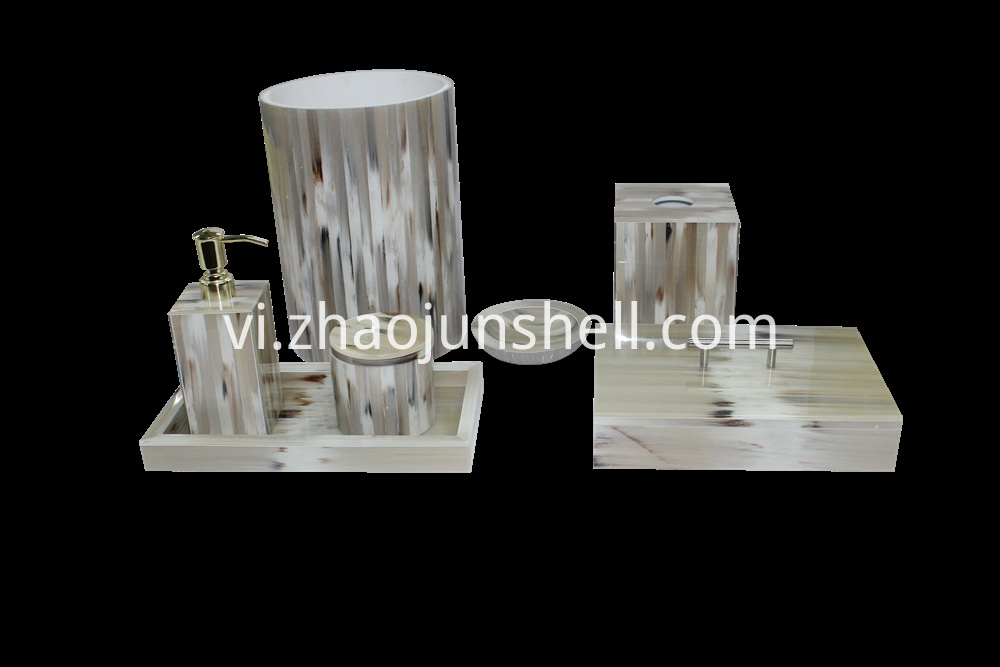 handmade imitation horn bath set