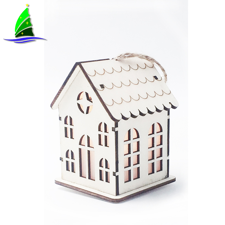 Wooden Christmas House with LED Lights