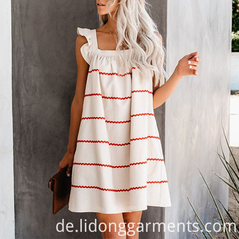 Cotton Blends Women Summer Dress