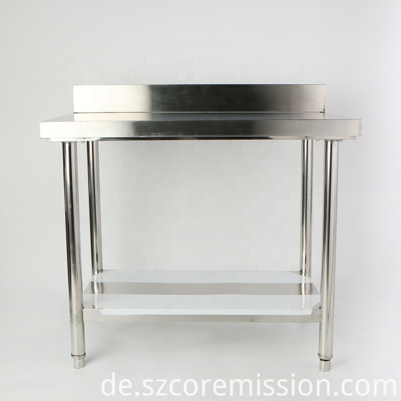 Feet Adjustable Stainless Steel Commercial Kitchen Table